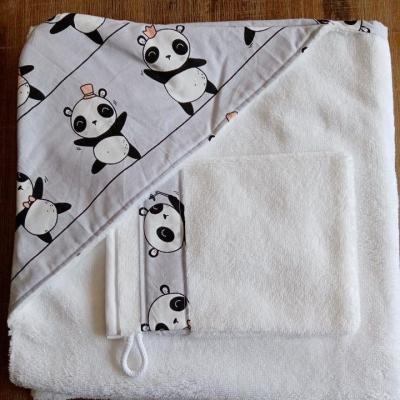 Capes de Bain et Gants motifs pandas